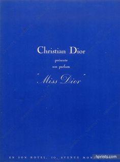 1948 Miss Dior Ad