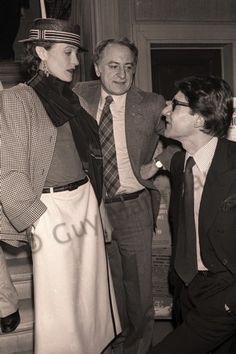 Loulou de la Falaise, Pierre Berge, and Yves Saint Laurent at Paloma Picasso's wedding.  Photo by Guy Marineau, 1978.