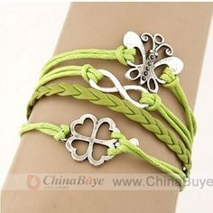 Fashion Jewelry: Creative Design Metallic Butterfly Clover Number E...