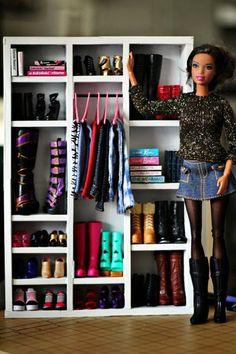 Картон + Палочки = Гардероб для Барби – 14 фотографий