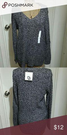 Croft & Barrow NWT black/white cable knit sweater Croft & Barrow NWT black/ white cable knit sweater croft & barrow Sweaters