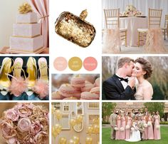Every girl loves the a touch of pink! This wedding infuses gorgeous elegant pink with sophisticated golds to create a sweet and decadent wedding! I love that the gold balloons create add a touch of whimsy to the reception!