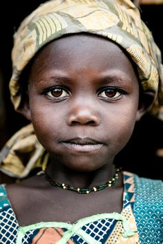 Lendu girl from Gety, a remote village located in  Ituri region of the northeastern Democratic Republic of Congo