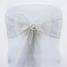 Celebrate your special day with efavormart's upscale Organza Chair Sashes, Chair Skirts, Chair Covers, Chair Belts, Chair Ribbons and more. Glam your banquet or reception Chairs up with our Chair Decorations and Table Decorations. Wedding Chair Sashes, Bow Tie Wedding, Wedding Chairs, Bling Wedding, Wedding Events, Weddings, Silver Wedding Decorations, Chair Bows, Stylish Chairs