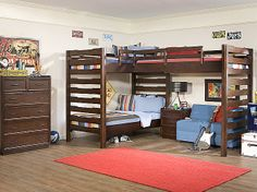 Solutions Triple Loft Bunk Bed All 3 boys in one room!