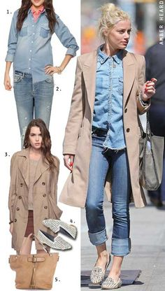 Dress by Number: Amber Heard's Double Denim - The Budget Babe