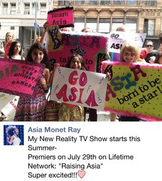 """Asia's getting her own tv show on lifetime called """"Raising Asia""""! Asia Ray, Asia Monet Ray, Dance Moms Facts, Show Dance, Get A Life, Reality Tv Shows, I Cant Even, Pretty Little Liars, Best Shows Ever"""