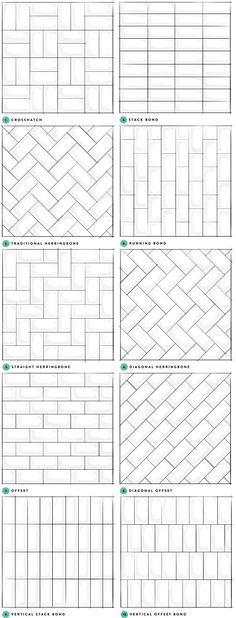 Unique ways to layout out subway tile!