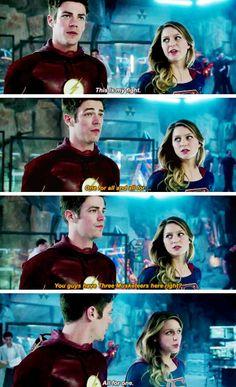 Barry Allen in #Supergirl #1x18 #SuperFlash crossover