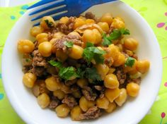 Chickpeas with Ground Meat