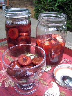 Emerson's Pickled Plums Plum Recipes, My Recipes, Favorite Recipes, Healthy Recipes, Healthy Food, Pickled Plums Recipe, Plum Preserves, How To Make Pickles, Cute Little Houses