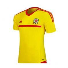 15-16 Wales Away Yellow Soccer Jersey Shirt