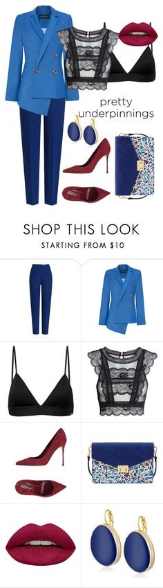 """""""Outfit #32"""" by filosofy ❤ liked on Polyvore featuring Emilia Wickstead, Anna October, Vyayama, Sergio Rossi, Mellow World, Huda Beauty, Kenneth Jay Lane, Elegant, evening and prettyunderpinnings"""