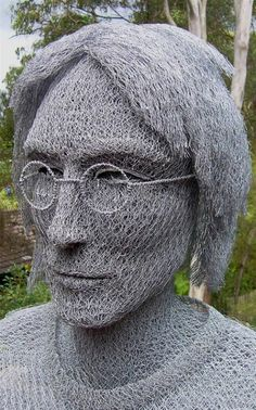 Incredible Chicken Wire Sculptures by Ivan Lovatt