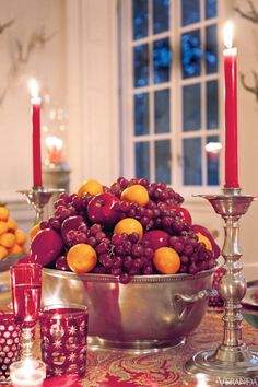 Apple, Red Grape and Clementine Centerpiece