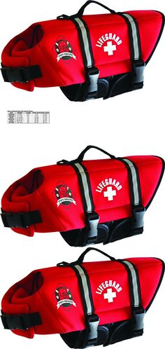 Safety Vests and Life Preservers 117427: Pet Lifeguard Jacket Neoprene Life Doggy Large Red Fido Products Paws Aboard -> BUY IT NOW ONLY: $39.86 on eBay!