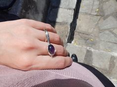 DimiCiar shared a new photo on Etsy Bezel Set Ring, Everyday Rings, Purple Love, Amethyst Jewelry, Purple Amethyst, Statement Rings, Gifts For Women, Sterling Silver Rings, Gemstone Rings