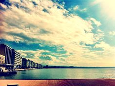 Where I want to study abroad someday:) Thessaloniki, What A Wonderful World, Study Abroad, Wonders Of The World, Greece, My Photos, Things I Want, Clouds, Sky