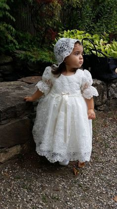 Baby Girl Christening Outfit, Girls Baptism Dress, Baby Girl Baptism, Baptism Outfit, Baptism Dresses For Toddlers, 1st Birthday Party For Girls, Baby Dress Design, Baby Dress Patterns, Flower Girl Dresses