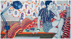 "Hope Gangloff - E. Starbuck, 2010. Acrylic on canvas, 60"" by 108"" / 63"" by 111"" by 2 3/4""."