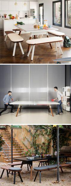 Mit Der RS Barcelona Tischtennisplatte Ping Pong Erhalten Sie Ein Einen  Hochwertigen Spiel  Und Esstisch