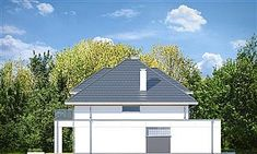 Elewacja lewa projektu Oszust 2 Morden House, New Builds, Home Fashion, Exterior Design, Townhouse, Gazebo, House Plans, Shed, New Homes