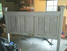 Antique Door Headboards, Headboard From Old Door, Diy Headboards, Diy King Headboard, Headboard Ideas, Bedroom Ideas, Wood Headboard, Bedroom Decor, Door Bed