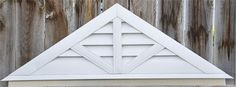 gable vent triangle vertical - Google Search Hollywood House, Wood Projects, Projects To Try, Gable Vents, House Siding, Exterior Trim, House Front, Sheds, Curb Appeal