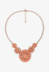 coral-colored necklace
