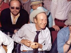 Legendary poker player Thomas 'Amarillo Slim' Preston is seen here wearing his beloved pearl-gray Stetson at the 1974 World Series of Poker, an event he would eventually go on to win.