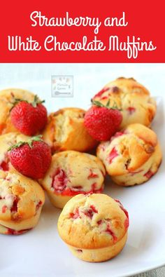 Moist, fruity and chocolaty fresh strawberry muffins with white chocolate are the best way to start your day!