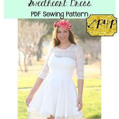 Patterns for Pirates Sweetheart Dress PDF Sewing Pattern for women plus size peplum