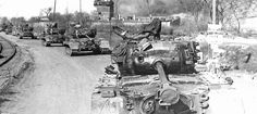 Pershing; American heavy tanks, the two Armored Division, advancing on the Rhine, the March 30, 1945.