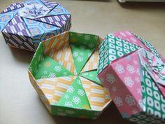 折り紙で八角形小箱✽作り方 - Aurora  blog  in  Sweden