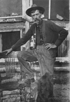Hiram Lemuel Ingalls (uncle of Laura Ingalls Wilder), Burnett County, WI in 1900