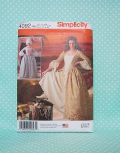 Schyler Sisters Costume Pattern. Cheapest Shipping. Simplicity 4092. Eliza Hamilton Pattern. Size:6-12. New Uncut. Historical Pattern. by FashionSew on Etsy