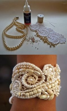 DIY Bracelet, love this idea ! Attach some buttons so you can easily put the bracelet on