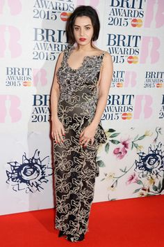 Charli XCX in Vivienne Westwood at the Brit Awards