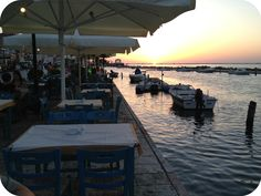 "Enjoy your dinner and the sunset next to the canal. View form the restaurant ""Ston Ponte"""