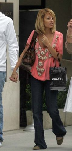 Purse - Chloe Python Silverado bag Shirt - Matthew Williamson Shoes - Marc by Marc Jacobs Gold Beaded Round-Toe flats