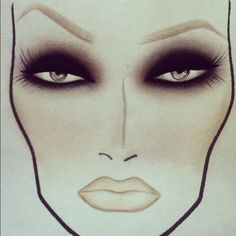dramatic eyes + a nude lip