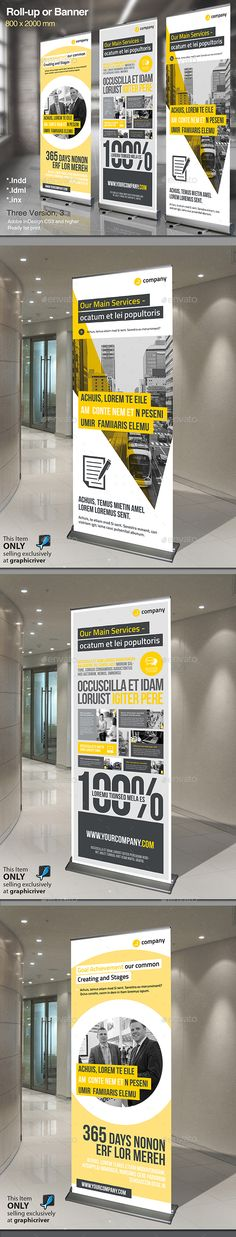 Corporate Rollup Vol.5 — InDesign INDD #public relations #promotion • Available here → https://graphicriver.net/item/corporate-rollup-vol5/14788376?ref=pxcr