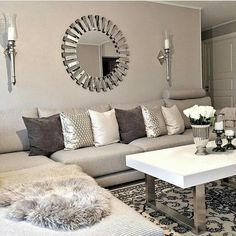 DIY Home Decor, think about these eye-catching home decor examples asap. A planning ref number 2625235570 … Living Room Styles, Glam Living Room, New Living Room, Home And Living, Living Room Designs, Living Room Decor, Fashion Room, Home Decor Accessories, Home Decor Inspiration