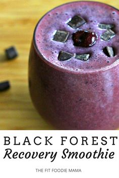 Black Forest Isopure Recovery Smoothie {gluten free, lactose free, BCAA Smoothie, cherry chocolate smoothie recipe} | The Fit Foodie Mama