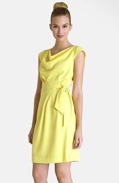 cc0b1dd6a779 Tahari Drape Side Tie Crepe Sheath Dress (Regular  amp  Petite) available  at