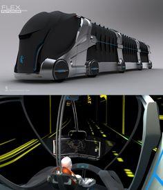 le kamaz flex futurum fonctionne à l'hydrogène et bénéficie de conduite