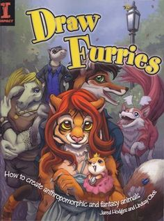 """Draw Furries: How to Create Anthropomorphic and Fantasy Animals What do you get when you cross a human with a horse (or a hamster, or a hummingbird)? You get any one of a number of fun anthropomorphic animals, also known as """"furries"""" to their friends. From facial expressions to creative coloring, this book contains all the know-how you need to create anthropomorphic cat, dog, horse, rodent and bird characters. Step by step, you'll learn how to: Draw species-appropriate tails, eyes, wings and…"""