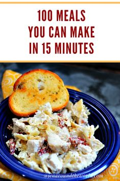 Need some quick dinner ideas? This list of recipes features 100 different ideas for a quick weeknight dinner. You can make these meals in 15 minutes or less. Dinner Recipes Easy Quick, Quick Weeknight Dinners, Fast Dinners, Fast Easy Meals, Frugal Meals, Easy Healthy Recipes, Frugal Recipes, Inexpensive Meals, Budget Meals