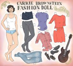 Style Thief Paper Dolls: Carrie Brownstein