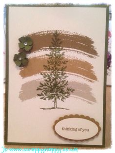Lovely as a tree - nice idea for a more masculine holiday card (or just nice for male birthday).